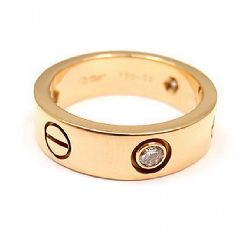 Cartier Love Ring Cartier A Cartier 18 Carat Yellow Gold Love Rocks And Clocks