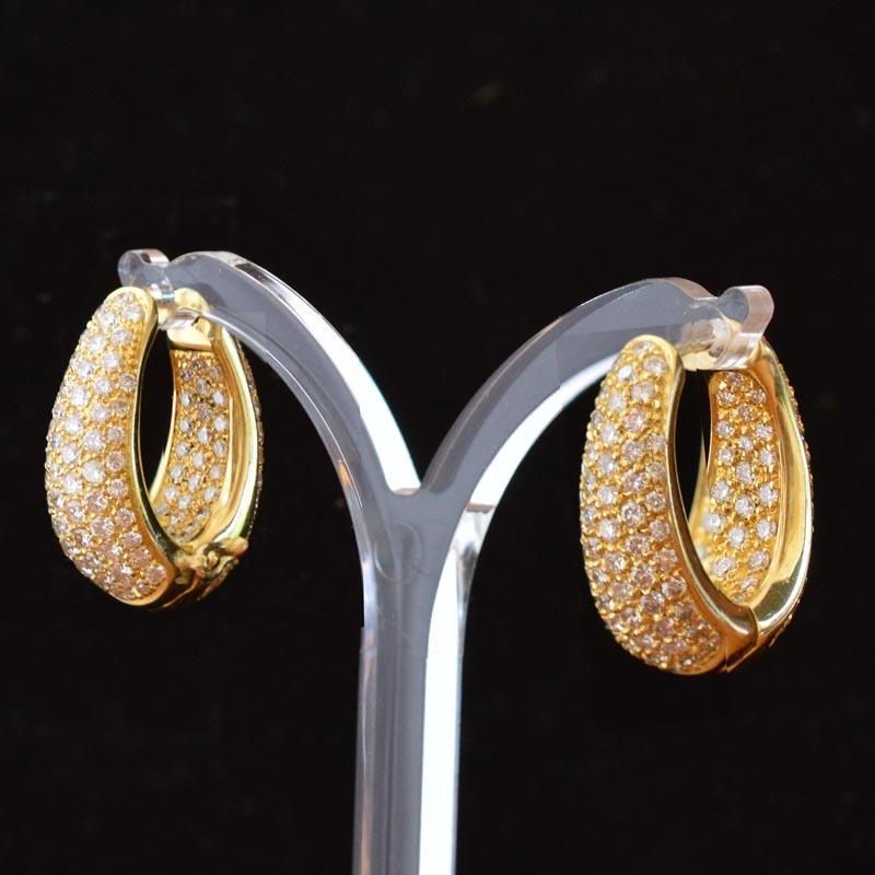 4 8 Ct Diamond Earrings Top Quality Set With Rocks And Clocks