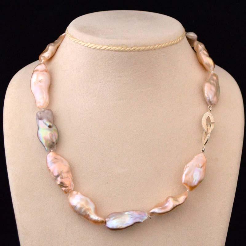 Keshi Pearl Necklace: Keshi Pearl Necklace Necklace Of Keshi Pearls (length 27mm