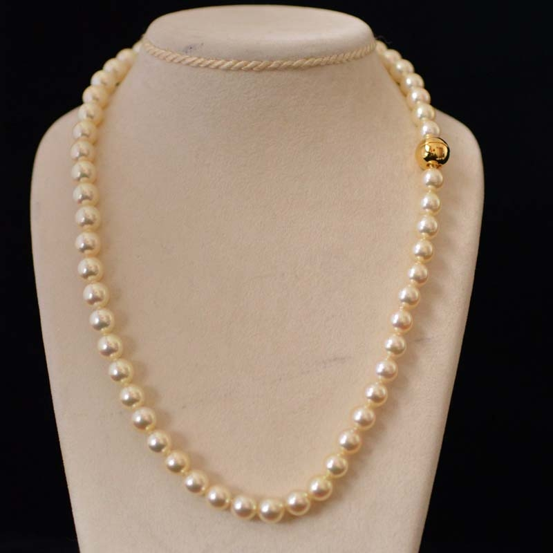 Best quality pearl : Akoya pearl necklace top quality with
