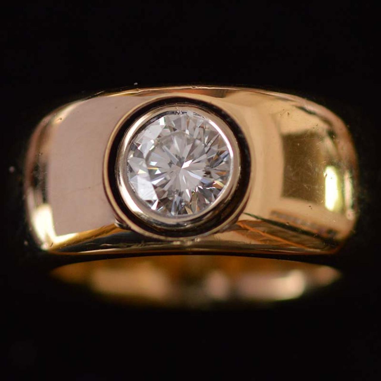 1,35 ct diamond solid gold ring - Rocks and Clocks