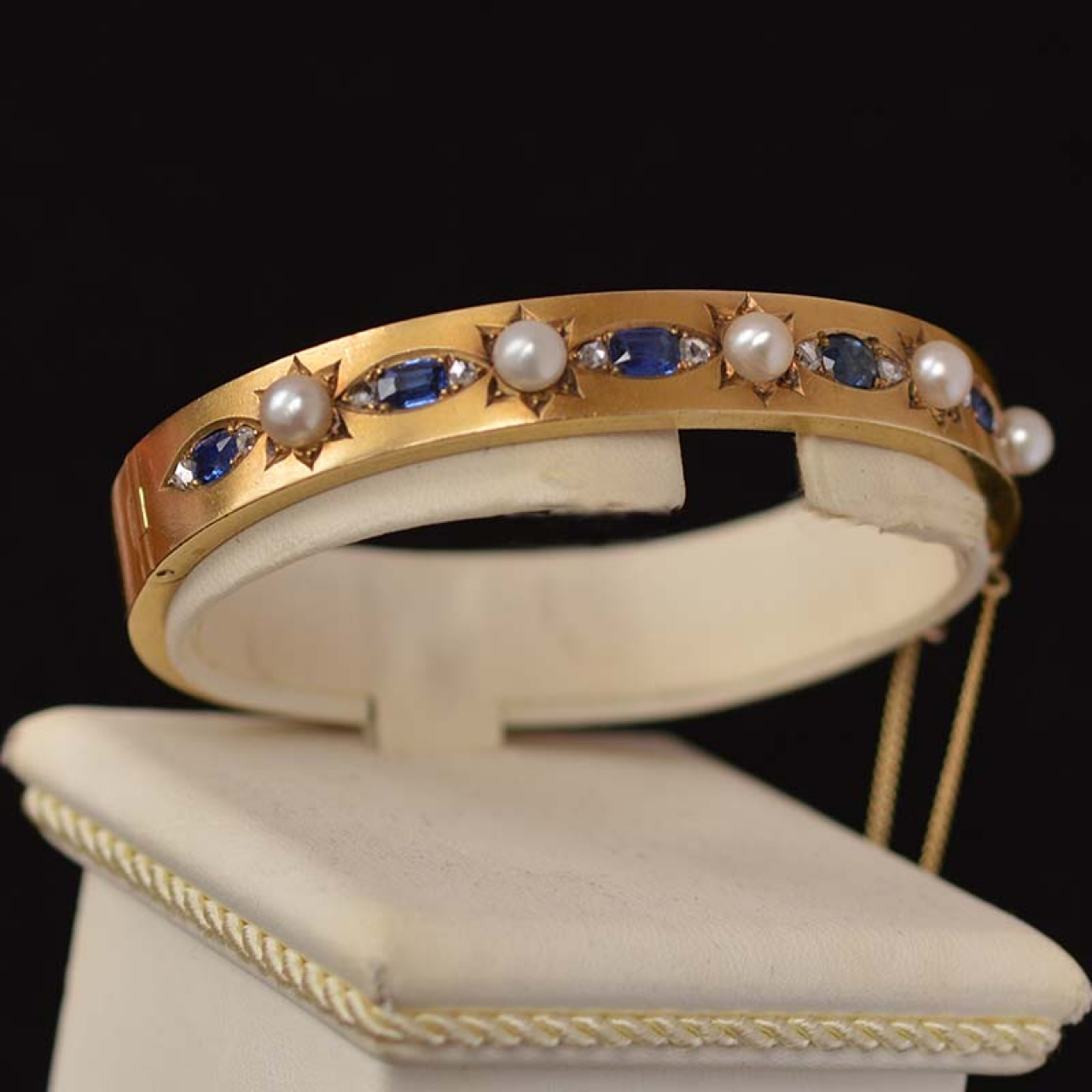 diamond sapphire products in techline bangle bangles once diamonds a upon bracelet with kisses
