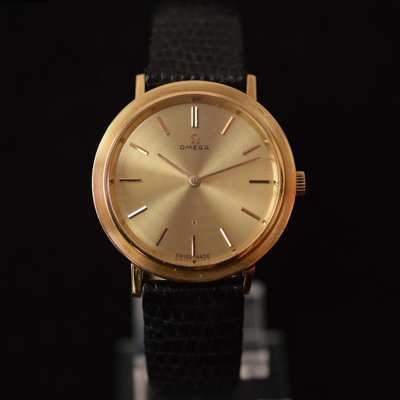 18k gold omega cal 620 wristwatch omega vintage 18k gold