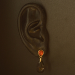 18k-gold-2lips-colours-smoky-quartz-mandarin-garnet-earrings-design-david-aardewerk