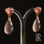 18k-gold-2lips-colours-blueish-pink-natural-undyed-agates-pink-rubellite-tourmalines-earrings-design-david-aardewerk