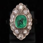 art-deco-buff-top-cut-emerald-diamond-ring