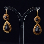 antique-gold-pyrope-garnet-ear-pendants