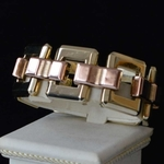 vintage-1940-pink-yellow-gold-retro-bracelet