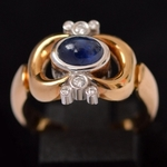 vintage-gold-ring-georg-jensen-diamond-sapphire-ring