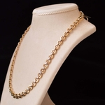 white-yellow-gold-rolo-link-necklace
