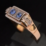 1940-s-pink-gold-platinum-retro-ring-natural-sapphires