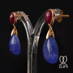 18k-pink-gold-2lips-colours-tanzanite-and-unheated-ruby-earrings-design-david-aardewerk