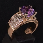 18k-pink-gold-diamond-amethist-gianfranco-bigli-ring