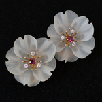 carved-rock-crystal-diamond-ruby-gold-flower-earrings-earclips