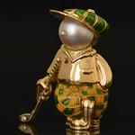 18k-gold-enamel-diamond-golfer-pendant-brooch-fred-paris