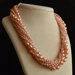 pretty-pink-pearl-torsade-necklace-wedding-dress