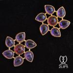 2lips-tulip-keukenhof-flower-earstuds-earrings-dutch-design-amethyst-rubellite-tourmaline-david-aardewerk-18k-gold