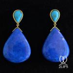 18k-gold-2lips-colours-turquoise-lapis-lazuli-earrings-design-david-aardewerk