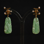 antique-jadeite-jade-14k-gold-diamond-earpendants-earrings-chinese-symbol-queen