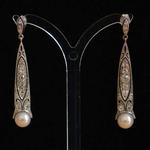 art-deco-earrings-ear-pendants-platinum-gold-old-mine-single-cut-diamonds-7-6mm-akoya-pearls-jewellery-alterations