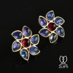 2lips-tulip-keukenhof-flower-earstuds-earrings-dutch-design-tanzanite-rubellite-tourmaline-david-aardewerk-18k-gold